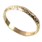 288 Wedding Bands Plastic Gold