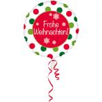 Standard Frohe Weihnachten Foil Balloon Round S40 Packaged 43 cm