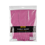 Table Skirt Plastic Magenta 426 x 73 cm
