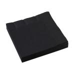 20 Napkins Black 33 x 33 cm
