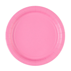 20 Plates New Pink Paper Round 22.8 cm