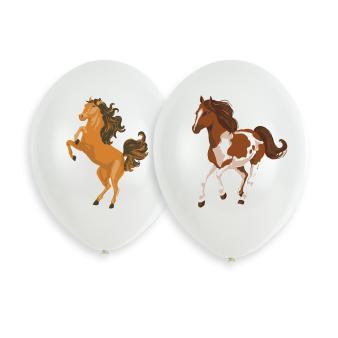 """6 Latex Balloons Beautiful Horses 27cm/11"""", 4C print"""