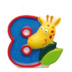 Numeral Candle 8 Safari