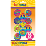 10 Buttons Feeling Groovy 60's 4.4 cm