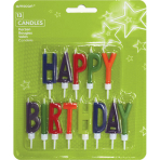 13 Letter Candles Happy Birthday Height 5.5 cm