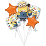 "Bouquet ""Despicable Me Party"" 5 Foil Balloons, P75, packed"
