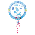Standard Shower With Love Boy Foil Balloon S40 Packaged 43 cm