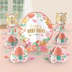 Table Decorating Kit Boho Birthday Girl Paper 27 Pieces 32.5 cm / 17.7 cm / 5 - 10.9 cm