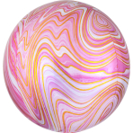 Marblez Pink Foil Balloon G20 packaged