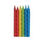 12 Spiral Candles Rainbow      Glitter