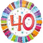 Standard Radiant Birthday 40 Foil Balloon S55 Packaged