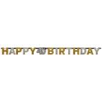 Letter Banner 40 Sparkling Celebration Gold Foil 213 x 16.2 cm