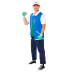 Adult Costume Pokemon Ash Plus