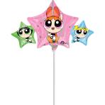 """Mini Shape """"Powerpuff Girls"""" Foil Balloon, A30, airfilled, 43 x 22cm"""