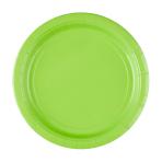 20 Plates Kiwi Green Paper Round 22.8 cm