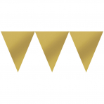 Pennant Banner Gold Paper 457 x 17.7 cm