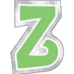 48 Stickers Letter Z