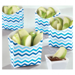 24 Snack Containers Paper     Minis blue 9,5 x 3,3 x 9,5cm