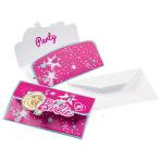 8 Invitations Barbie Popstar