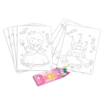 Colouring Kit My Princess 20 Pieces Paper 14.4 x 10 cm