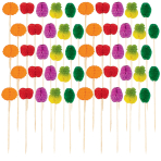50 Picks Fruit Honeycombs Wood 10 cm