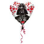 "Standard ""Star Wars - Love"" Foil Balloon Heart, S60, bulk, 43 cm"