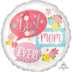 "Jumbo ""Best Mom Ever Bubbles"" Foil Balloon, P32, packed, 71 x 71cm"