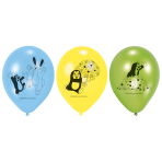 6 Latex Balloons Little Mole 22,8cm/9""