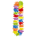 25 Leis Multicolour Fabric 91.4 cm