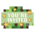 8 Invitations & Envelopes &   Stickers TNT Party! Paper 10.7x 15.8 cm