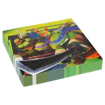 20 Napkins Teenage Mutant Ninja Turtles 33 x 33 cm