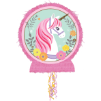 Pull Pinata Magical Unicorn Outline Paper / Plastic 45.7 x 55.2 x 7.6 cm