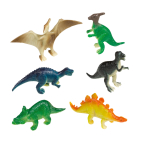 8 Mini Figures Happy Dinosaur Plastic