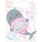 8 Party Bags Narwhal Plastic 23.4 x 16.4 cm