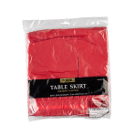 Table Skirt Apple Red Plastic 426 x 73 cm