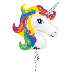 SuperShape Rainbow Unicorn Foil Balloon P35 Packaged 83 x 73cm