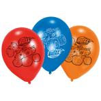 "6 Latex Balloons Blaze 22.8 cm / 9"""
