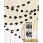 6 String Decorations Glitter Black Foil 213 cm