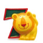 Numeral Candle 7 Safari