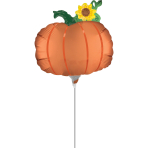 Minishape Satin Pumpkin Foil Balloon A30 Air-filled