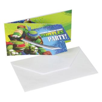 6 Invitations & Envelopes Teenage Mutant Ninja Turtles