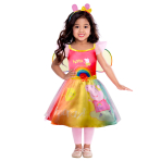Child Costume Peppa Rainbow Dress Age 4-6 Years