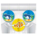 3 Honeycomb Balls Ocean Buddies