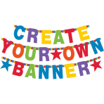 Letter Banner Birthday Accessories - Primary Rainbow Personalizable Paper 84 Pieces 11 cm