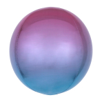 Ombré Orbz Purple & Blue Foil Balloon G20 bulk