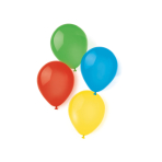 10 Latex Balloons Rainbow assorted 20.3 cm / 8""