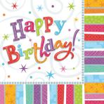 16 Napkins Radiant Birthday 33x 33 cm