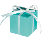 100 Treat Boxes Colourful Wedding  Robin's Egg Blue 5.7 x 5.7 x 5.7 cm