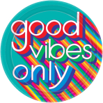 8 Plates Good Vibes Paper Round 26.7 cm