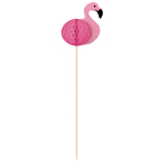 10 Picks Flamingo Paradise Honeycombs Wood 19 cm